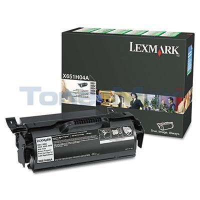 LEXMARK X651DE RP PRINT CARTRIDGE FOR LABEL APPS 25K